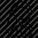 avatar, hair, line, long, man, sweater, woman icon