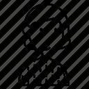 avatar, hair, line, man, short, sweater, woman icon