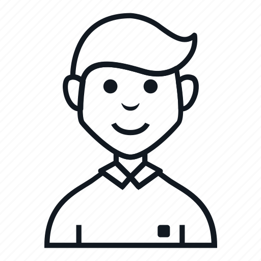 avatar, boy, character, man, people, polo shirt, smile icon