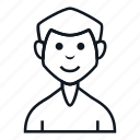 avatar, boy, character, gay, man, people, smile icon
