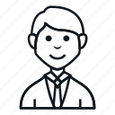 avatar, boy, character, job, man, people, smile icon