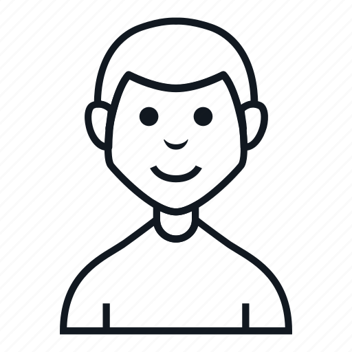 avatar, boy, casual, character, man, people, smile icon