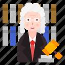 avatar, judge, justice, people, profession icon
