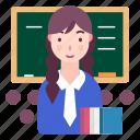 avatar, people, profile, school girl, student icon