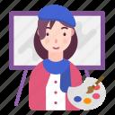 artist, avatar, brush, paint, painter, people icon