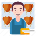 avatar, butcher, people, person, profession icon