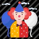avatar, joker, people, person, profession icon