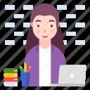 avatar, business woman, it professional, profession, woman icon