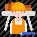 avatar, carpenter, job, people, profession icon