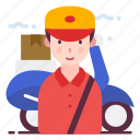 avatar, courier, delivery boy, profession icon