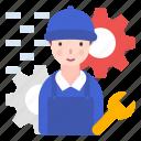 avatar, mechanic, people, profession icon