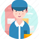 avatar, people, postman, profession, user