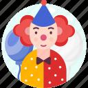 avatar, clown, fun, jester, joker, profession