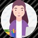 avatar, office, people, profession, woman