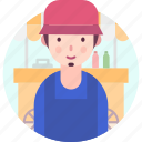 avatar, people, profession, street, vendor icon