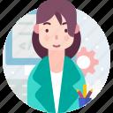 avatar, computer, people, programmer, woman