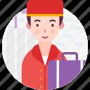 avatar, bellboy, doorman, people, service