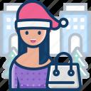 avatar, celebration, christmas, shopping, woman