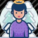 winter, celebration, angel, christmas, xmas, decoration icon