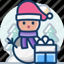celebration, christmas, snow, snowman, winter