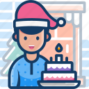 avatar, cake, christmas, xmas icon