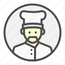 avatar, chef, cooking, profession, restaurant icon