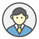 avatar, business, employee, man, person, profession icon