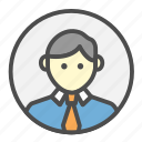 avatar, business, employee, person, profession, profile icon