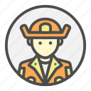 avatar, brigade, fire, firefighter, profession, rescue icon