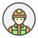 architect, avatar, foreman, overseer, profession icon