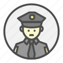 avatar, character, cop, police, policeman, profession icon