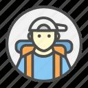 avatar, profession, traveler, traveling icon