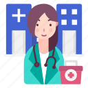 avatar, doctor, medical professional, people, profession icon