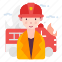 avatar, fireman, people, person, profession, firefighter