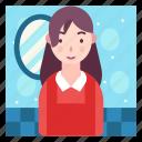 avatar, beautician, makeup, profession icon