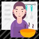 avatar, cook, female, kitchen icon