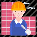 avatar, builder, male, man, worker icon