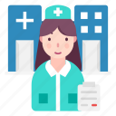 avatar, doctor, medical professional, nurse, profession icon