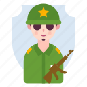 avatar, male, man, military, soldier icon