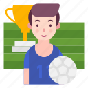 avatar, football, sports, sportsman icon