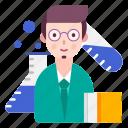 avatar, chemist, research, scientist icon