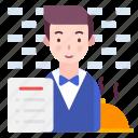 avatar, man, profession icon