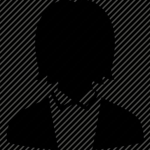 avatar, default, female, profile, suit, user, work icon