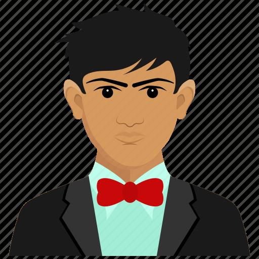 asian, avatar, businessman, chinese icon