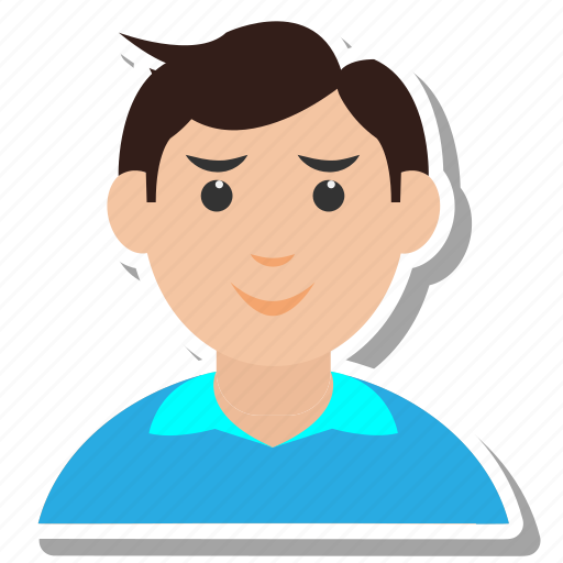 avatar, boy, eyeglasses, people, student, user icon