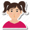avatar, girl, people, pupil, student, user, woman icon