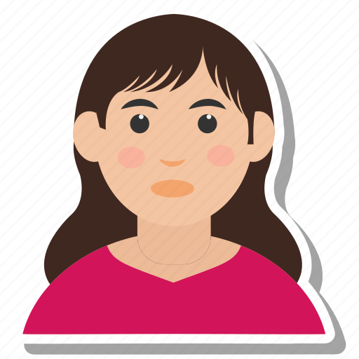 avatar, girl, head, people, woman icon