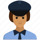 girl, lady, office, police, woman icon