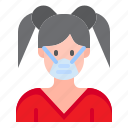 avatar, woman, girl, profile, female