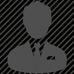 account, avatar, businessman, manager, portrait, presonal, profile icon